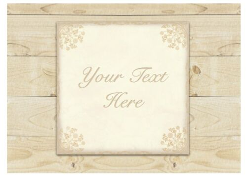 CUSTOM-MADE DOOR SIGN Add Text & Personalise Cream Shabby Chic House Wall Plaque