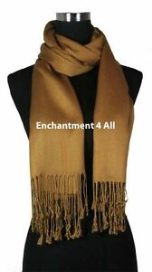 información para 10946 bc37a Detalles de 100% 2 Capas Pashmina Cachemira Mujer Boda Grande Chal  Envolvente Bufanda, XL,
