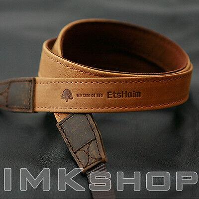 NEW MATIN Vintage-20 TAN DSLR SLR Camera Neck Shoulder Leather Strap for Canon