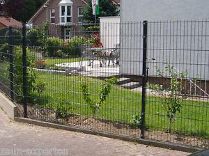 Doppelstabmattenzaun Gartenzaun Gittermatten Anthrazit 15 Meter Hohe
