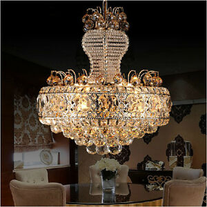 LED-Modern-K9-Clear-Crystal-Ceiling-Light-Pendant-Lamp-Chandelier-Lighting-6010