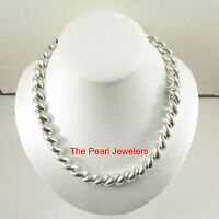 Unique Vintage Solid .925 Sterling Silver Saddle Rope Designed Necklace - Tpj
