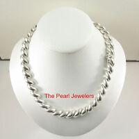 Unique Vintage Solid .925 Sterling Silver Saddle Rope Designed Necklace - Tpj
