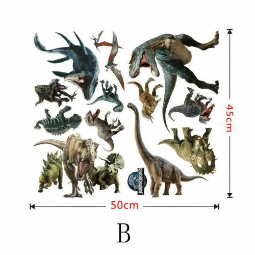 Dinosaur Jurassic World Vinyl Wall Art Decal Sticker Kids Boy Bedroom Decor