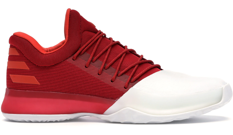 james harden red and white shoes cheap