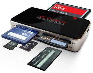 Camera Usb Memory Card Reader For Sm Cf Xd Sd Mmc Pc Windows 7 Seven Vista Mac Ebay