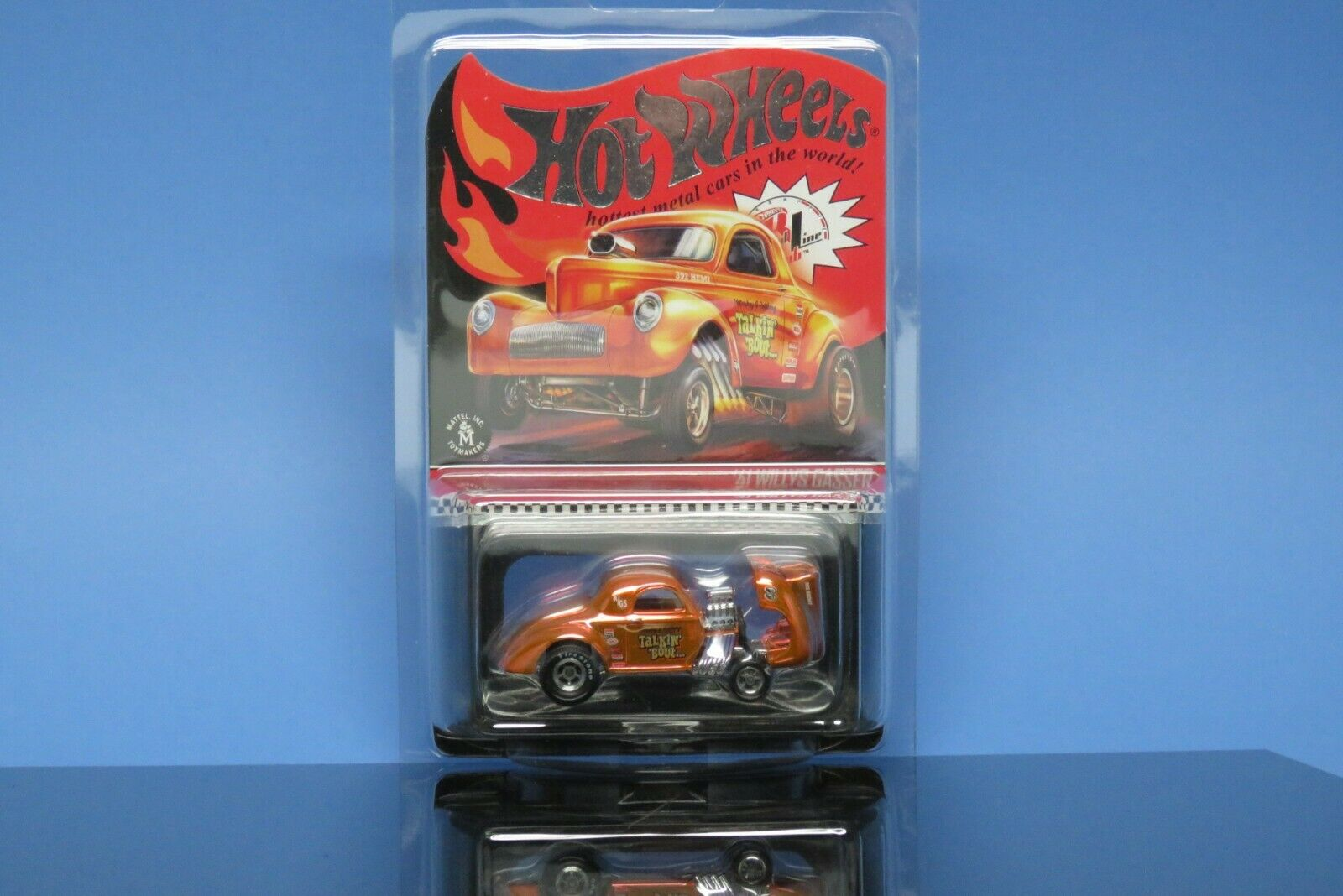 2019 RARE Hot Wheels '41 WILLYS GASSER Low Number 1676 10000 Red Line Club