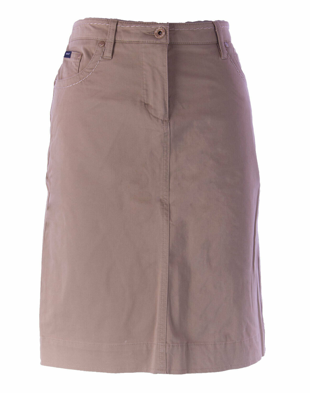 Gant Women's Camel Solid Brushed Pencil Skirt 440292 NEW