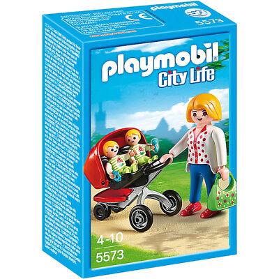 PLAYMOBIL 5573 City Life Mère avec Twin Poussette