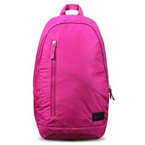 Nike-Classic-19L-Backpack-Rucksack-Bag-Pink-Black-Gym-PE