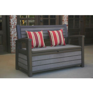 Image Is Loading Outdoor Storage Bench Patio Garden Porch Poolside Seat