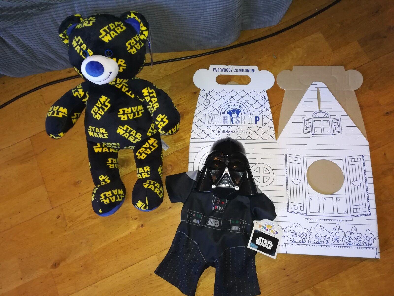 Build a Bear Orso con Star Wars Darth Vader e Nuovo di zecca in scatola