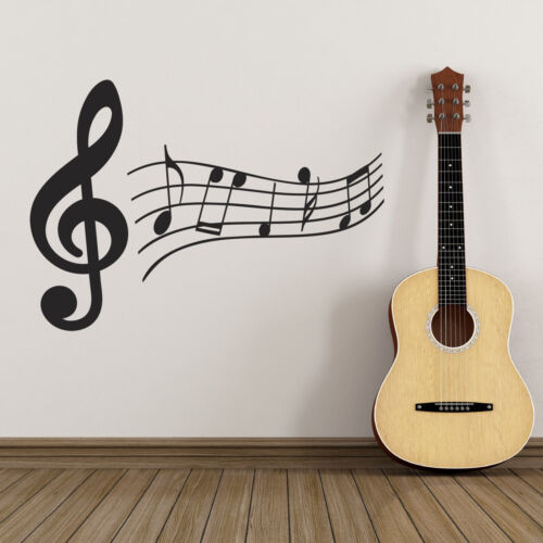 Treble Clef and Music Notes Wall Sticker Music Wall Sticker