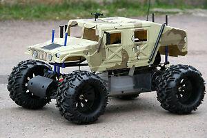 rc karosse karrosse monster hummer truck verbrenner 1 5 1. Black Bedroom Furniture Sets. Home Design Ideas