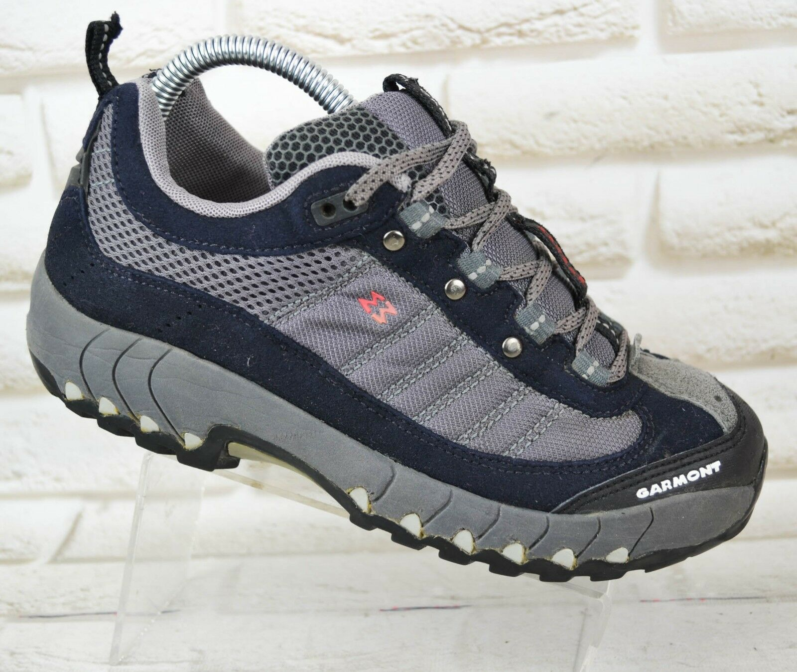 GARMONT ADD Womens Grey Black Walking Trail shoes Vibram Boots Size 5 UK 38 EU