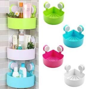 Suction Corner Rack Shelf Organizer Caddy Storage Bathroom Shower Wall Basket UK