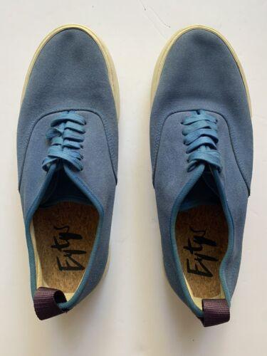 EYTYS Men's Blue Suede White Rubber Sole Lace Up S