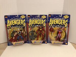 New Earth's Plus Puissants Héros Avengers Iron Man, Thor Et Scarlet Witch Par Toybiz