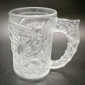 McDonald's Batman vs Riddler Forever Clear Glass Vintage Mug