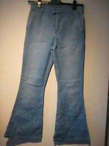 10 Mcqueen Flared 42 taglia Alexander Jeans Uk Blue 0xdwqF
