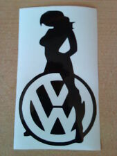 sexy girl babe car sticker logo vinyl graphics decals beetle polo golf  fun