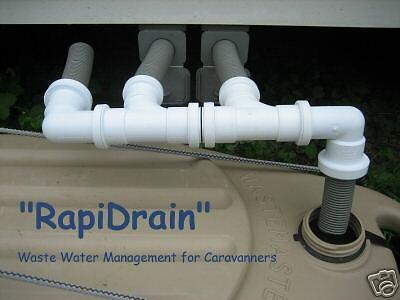 TRIPLE DRAIN FOR CARAVAN WASTE