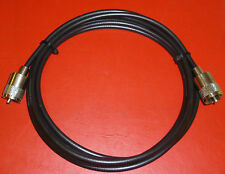 RG58U BASIC PATCH CABLE 1mts PMR CB 2 PL259 TEST SWR LEAD ANTENNA 2  WAY