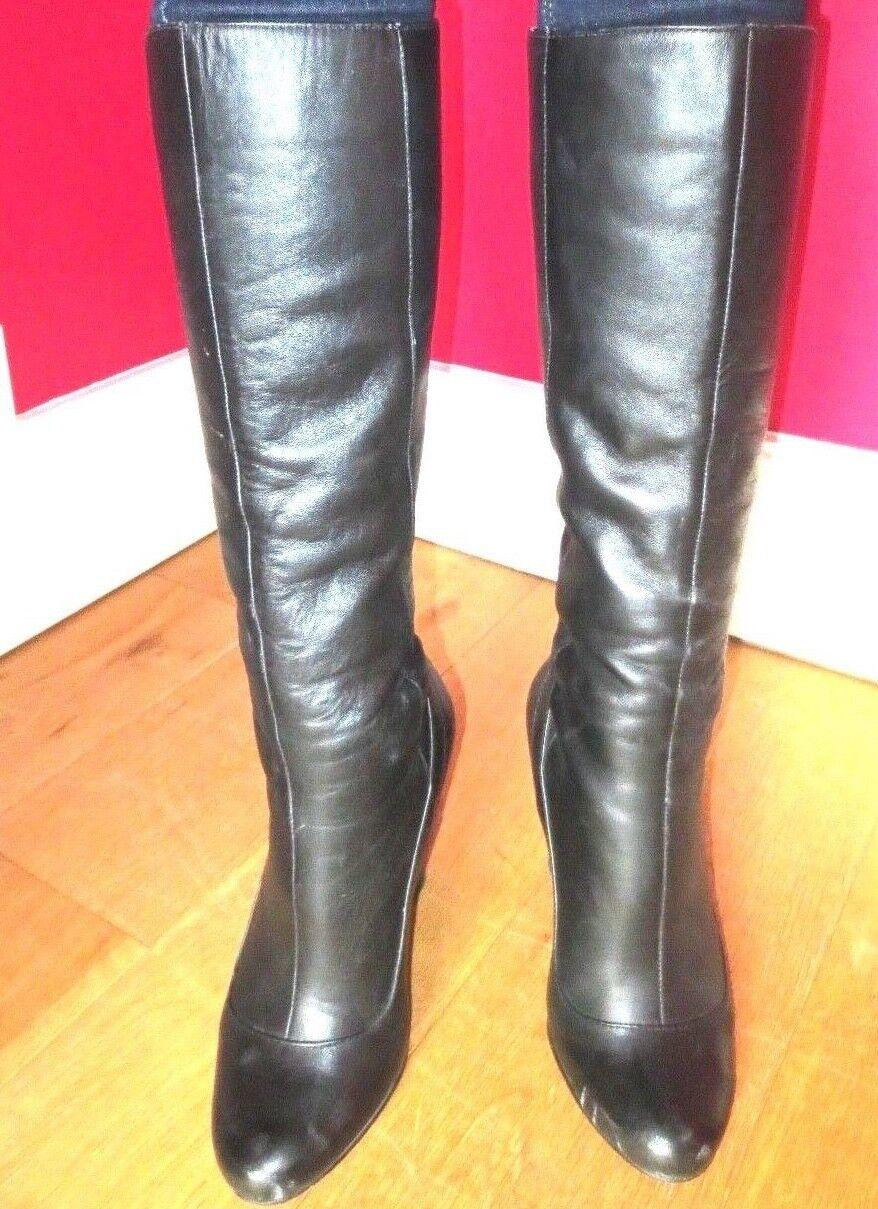 KG Kurt Geiger Black Leather  Boots size 39