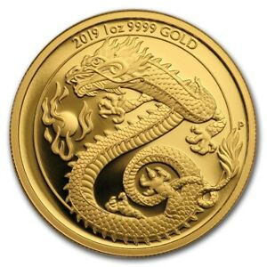 Australia-2019-Imperial-Dragon-amp-Pearl-100-1-Oz-Pure-Gold-Proof-MINTAGE-188