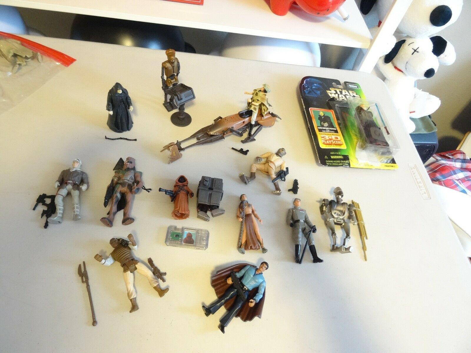 90'S HUGE LOT OF 17 STAR WARS Expanded Universe 3.5 RARE AS DISPLAY Kenner N226