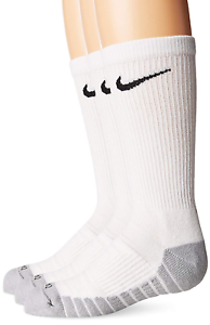 3 Pr NIKE Kids Young Athletes Dry Cushioned Crew Socks Sz S//Shoe Sz 3Y-5Y