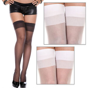 bfcd0a5b0f3 1-3PC Classic Thigh High Hi Sheer Solid Colors Stockings Tights Over ...