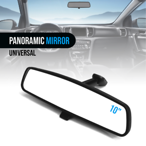 "Black Mirror 10"" Day / Night Interior Inside Rearview Assembly Flat Type Mount Soulager Le Rhumatisme"
