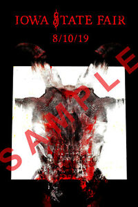 Details about SLIPKNOT 12x18 CONCERT POSTER IOWA STATE FAIR AUGUST 10 2019  ALL OUT LIFE TOUR 1