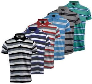 Men Short Sleeve Polo Shirt T Shirt Top Casual Cotton Mix with Pocket S XXL