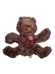 "Gund Philbin Brown Plush Valentines Teddy Bear Heart 4037883 10"" Stuffed Animal"