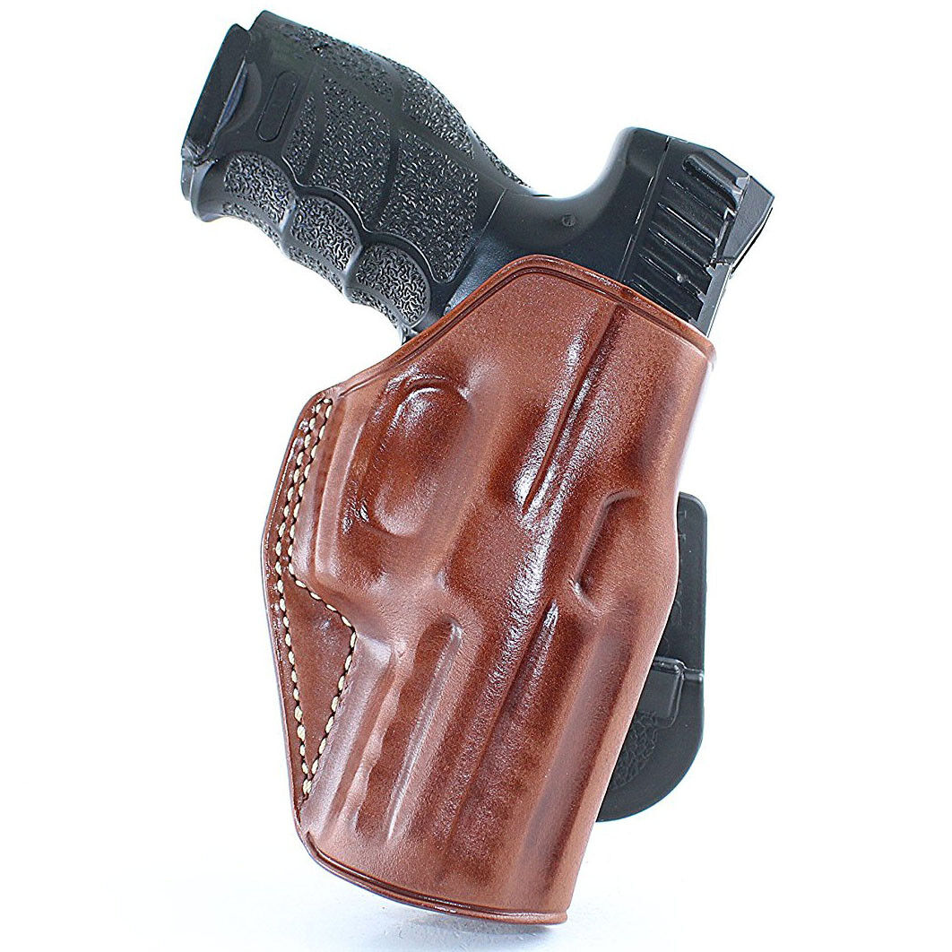 Funda de cuero owb Paleta parte superior abierta para Walther CCP 9 mm 3.54''BBL R H dibujar