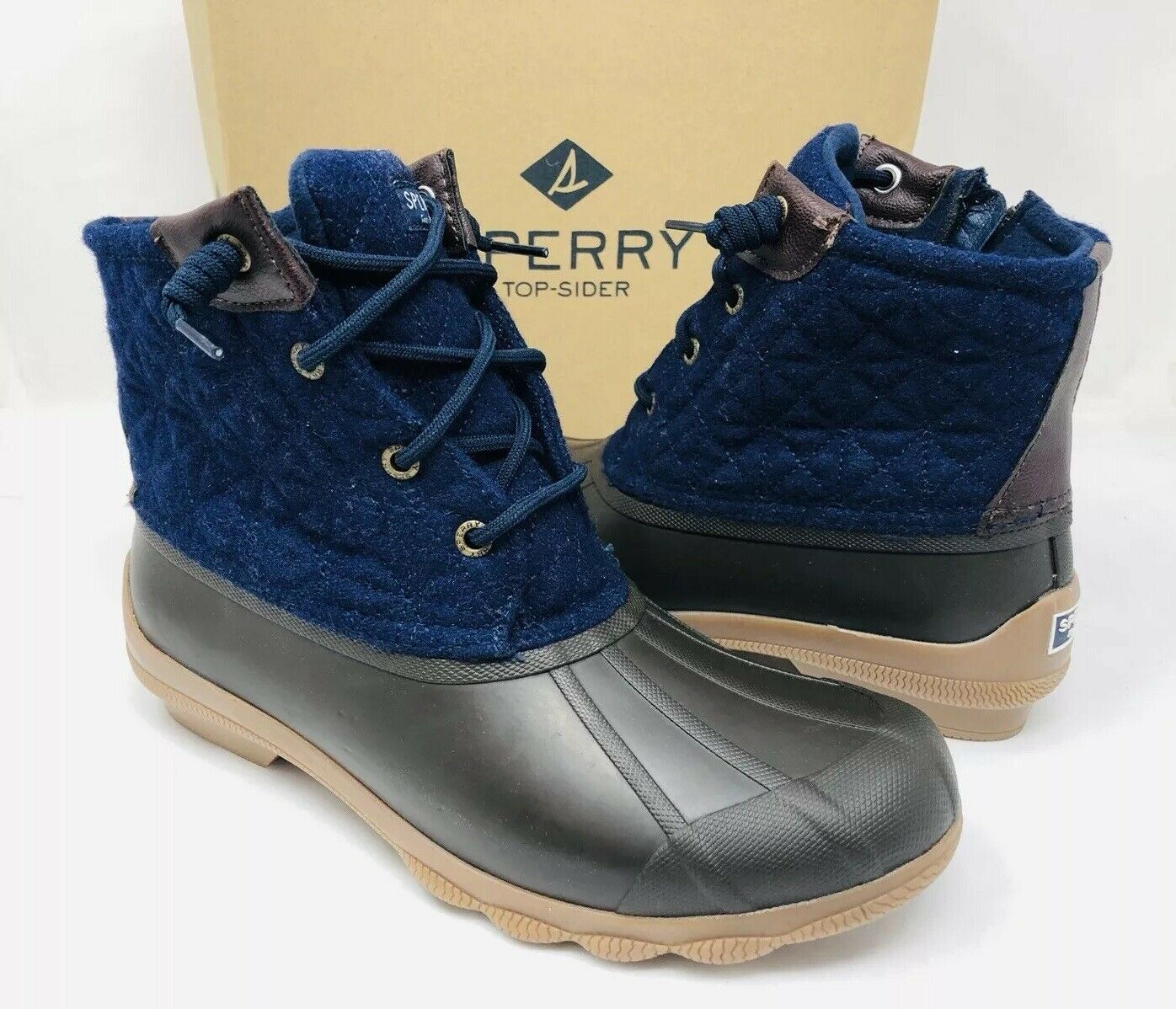 Sperry Top-Sider Top-Sider Top-Sider Women's Syren Gulf Duck Booties Grey Navy Size 7M, MSRP  120 833ac2
