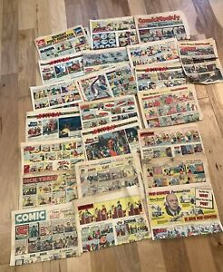 Lot-vintage-1947-1950-1951-NEWSPAPER-COMIC-Sections-strips-PHANTOM-DICK-TRACY