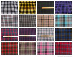 Fashion-Tartan-Plaid-Check-Polyviscose-Dress-Fabric-150cms-Wide-FREE-P-amp-P