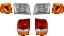 New Ford Ranger Headlights Tail Lights Park Signal Lamps 1993-1997 Set/6 Nice