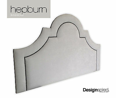 HEPBURN Upholstered Bedhead for Queen Size Ensemble - SILVER