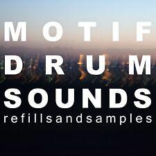 Motif XS & ES Drum Kits OVER 1000 Samples Yamaha Hip hop Rnb Dance WAV Sounds CD