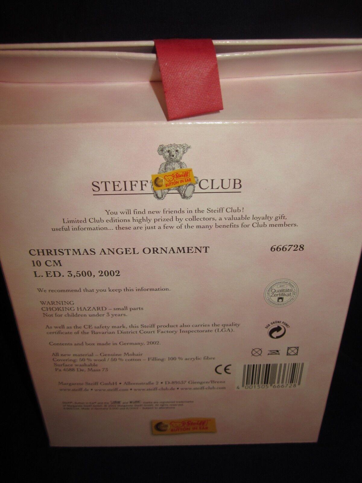 STEIFF Christmas Ornament Ornament Ornament 2002 Angel  nuovo in scatola f52baf