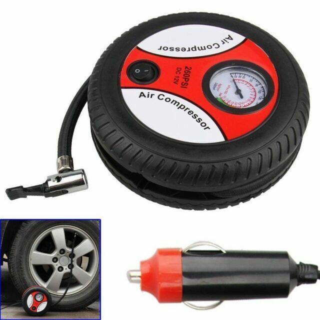 Portable Pump Tire Inflator  Auto Electric Air Compressor Mini 12V DC Car