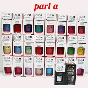 CND-Shellac-UV-LED-Gel-Nail-Polish-Base-Top-Coat-7-3ml-0-25oz-Pick-ANY-PART-A