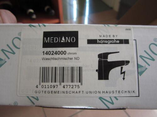 ELEKTRO mit Ablaufgarnitur CHROM Nr.14024000 MEDIANO WT-ARMATUR NIEDERDRUCK
