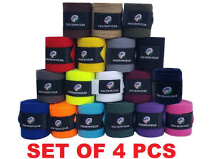 Pferde Fleece Bandagen/Polo Wraps/stablewraps Reitsport Leg WRAPS Set 4