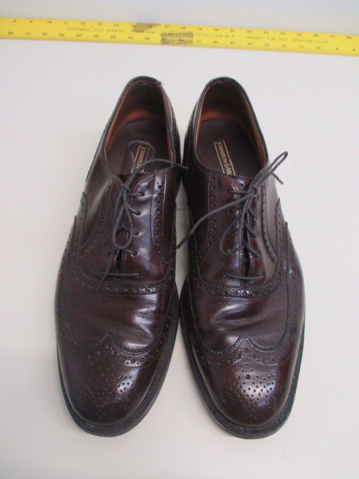 Vintage Johnston Murphy and Murphy Johnston Brown Pelle Wing Tip Oxfords size 12 C/A EUC! edcda3