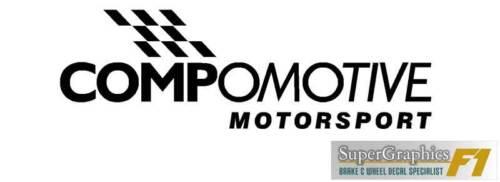 Rueda Decal Sticker para caber compomotive Motorsport Rally rueda con bandera 93mm X4